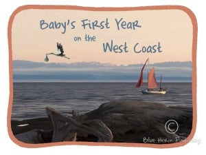 Blue Heron Art - Baby's First Year