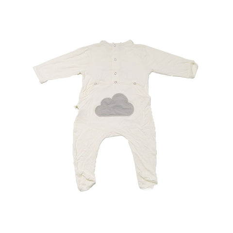 "Earth Baby Outfitters - Bamboo ""Backflap"" Rear Opening Footie"