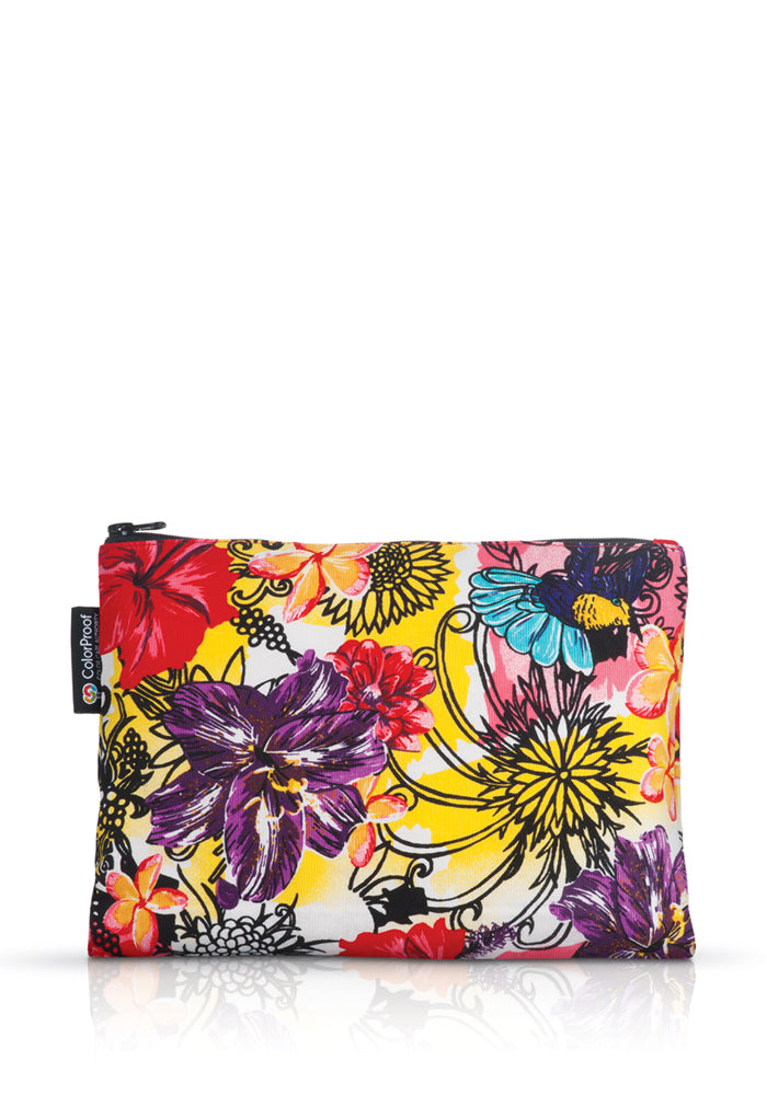 California Flower Print Travel Bag