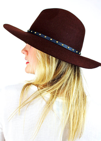 Hayworth Hat in Mocha