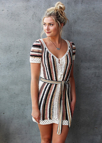 Cleobella Bardot Crochet Dress