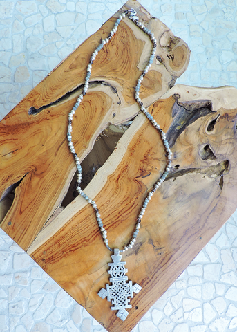 Tribal Cross Necklace