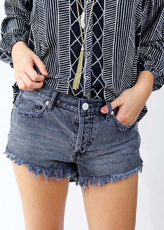 Soft Relaxed Denim Cut Off Free People