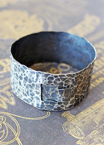 Handmade Sterling Silver Buckle Cuff