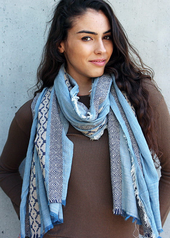 Moroccan Vertical Pattern Scarf