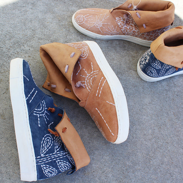gansvoort embroidered sneaker free people