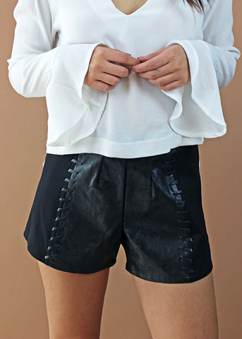 Jeanette Vegan Leather Shorts