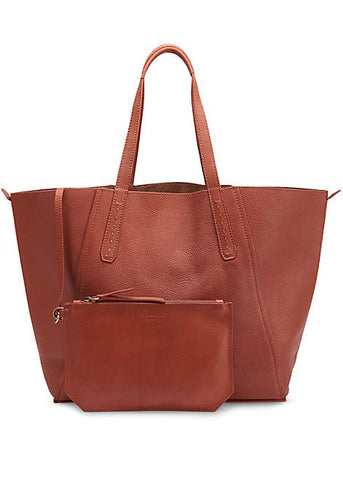 Rust Niigata Reversible Tote Bag with Metallic Finish