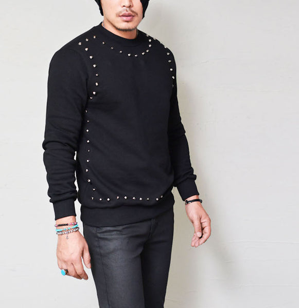 Square Studded Jersey Sweater