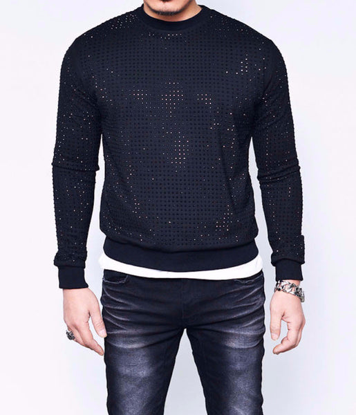 All Over Black Studs Jumper