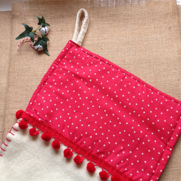 Christmas Stocking X/Large Red
