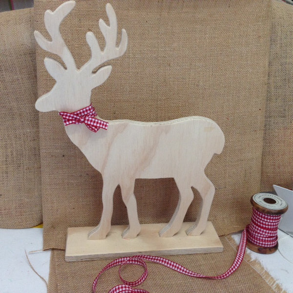 X/large Reindeer - Natural Wood