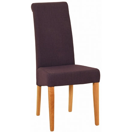 Fabric Dining Chair - Mauve.