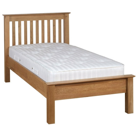Newbury Oak 3' Low Foot End Single Bed