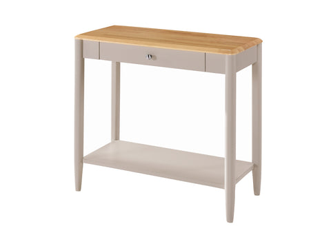 Budget Oak / Grey Painted Finish Console Table.