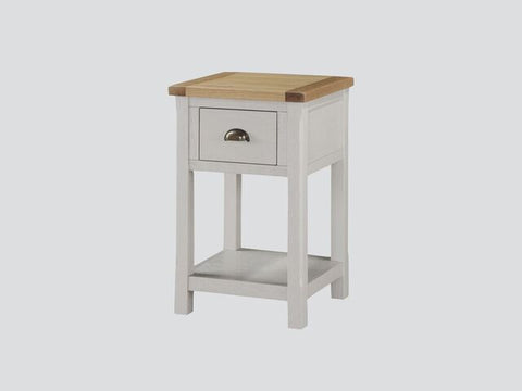 French Oak / Stone Grey Painted Side Table