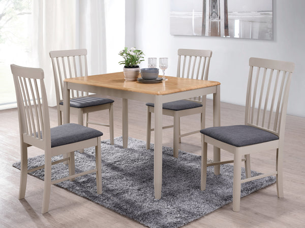Budget Oak Finish Drop Leaf Dining Table with 4 Chairs.
