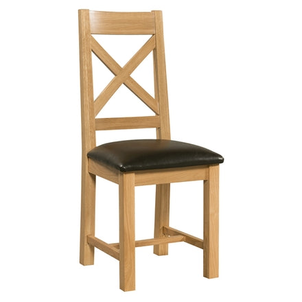 Oak Cross Back Dining Chair (limited stocks)