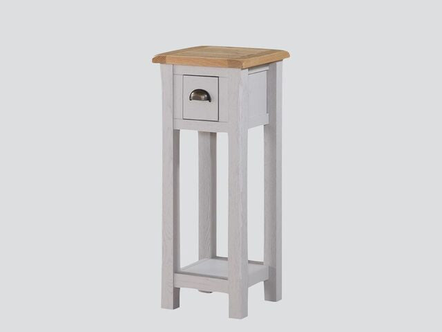 French Oak / Stone Grey Painted Telephone Stand