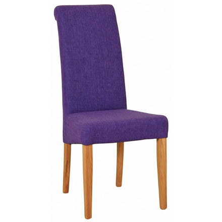 Fabric Dining Chair - Purple