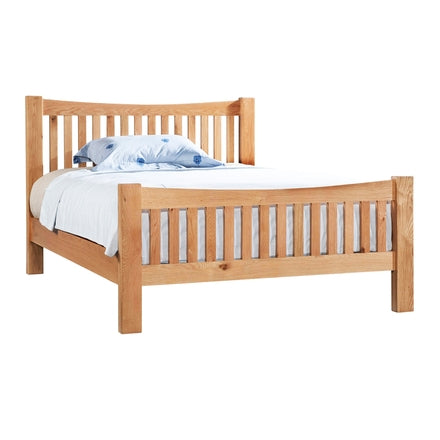 "Dorking Oak 4'6"" Low Foot End Bed"