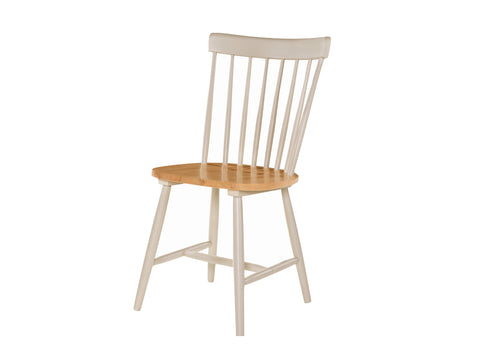 Budget Oak / Grey Painted Spindleback Chair