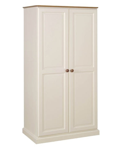 Tenby Painted/Pine All Hanging Double Wardrobe