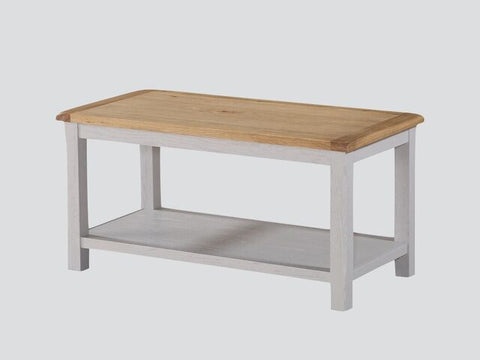 French Oak / Stone Grey Painted Coffee Table