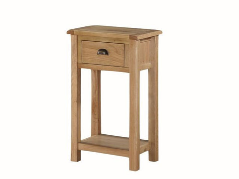 French Oak Medium Hall Table with 1 Drawer