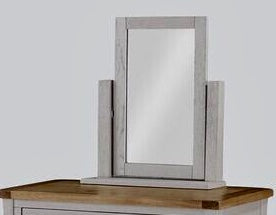 French Oak / Stone Grey Vanity Mirror.
