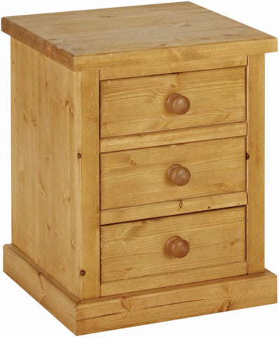Crawford Pine 3 Drawer Bedside Chest