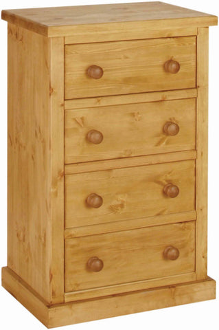 Crawford Pine 4 Drawer Wellington Chest