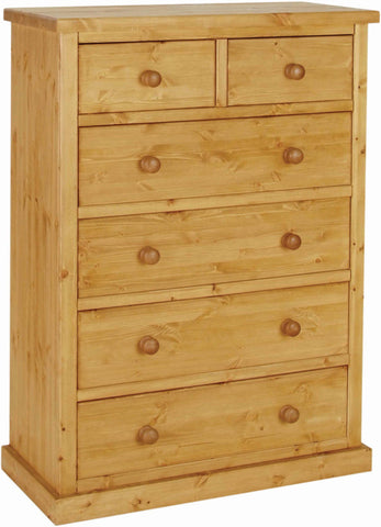 Crawford Pine 4 + 2 Drawer Chest