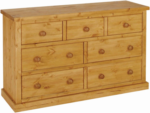 Crawford Pine 3 over 4 Drawer Chest
