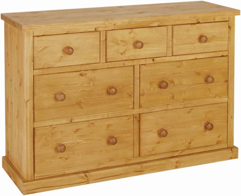 Crawford Pine 3 over 4 Deep Drawer Jumper Chest
