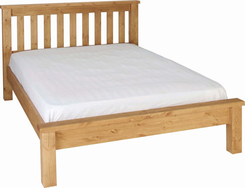 "Crawford Pine 4'6"" Low Foot End Bed"