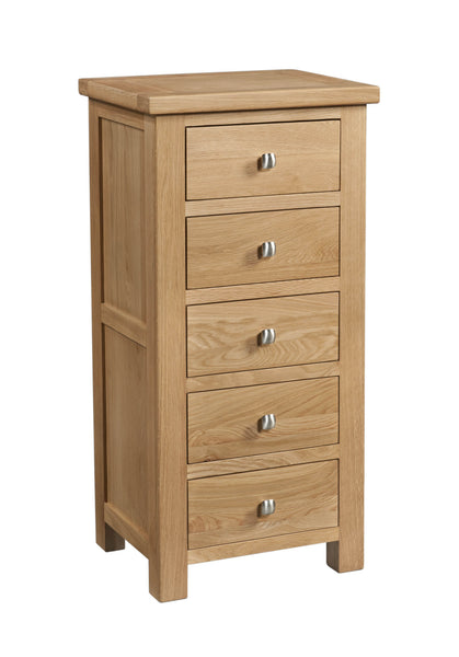 Dorking Oak 5 Drawer Wellington Chest