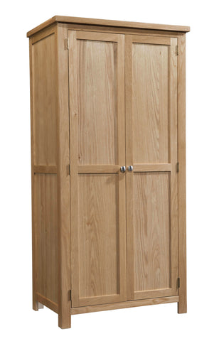 Dorking Oak All Hanging Double Wardrobe