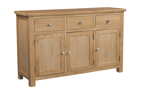 Dorking Oak 3 Door 3 Drawer Sideboard