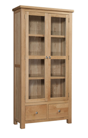 Dorking Oak Glazed Display Cabinet
