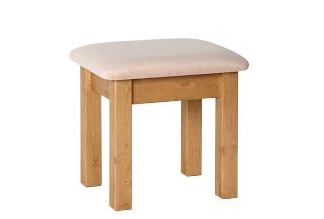 Contemporary Pine Dressing Table Stool