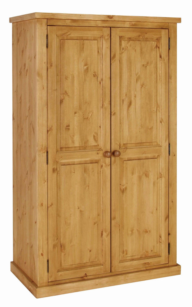 Chunky Pine All Hanging Double Wardrobe