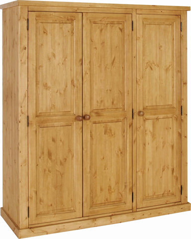 Crawford Pine All Hanging Triple Wardrobe