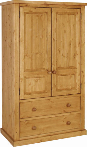 Crawford Pine 2 Drawer Double Wardrobe