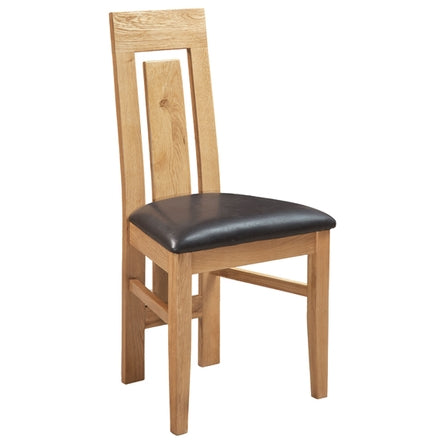 Oak Panel Back Back Dining Chair