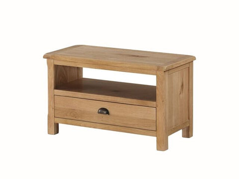 French Oak Compact TV Unit