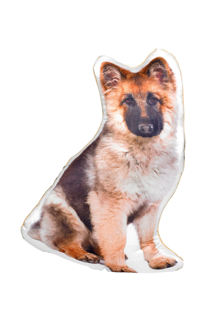 Long Haired German Shepherd Shaped Cushion