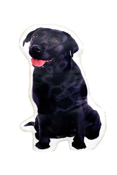 Black Labrador Shaped Cushion