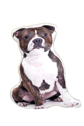 Staffie (Staffordshire Bull Terrier) Shaped Cushion