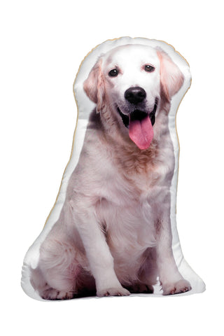 Yellow Labrador Shaped Cushion